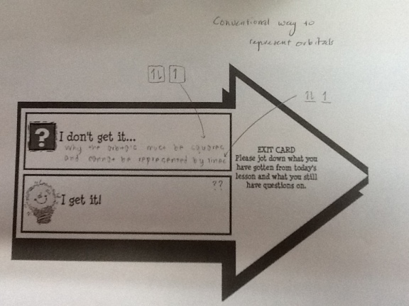 Exit Card in Chemistry Class