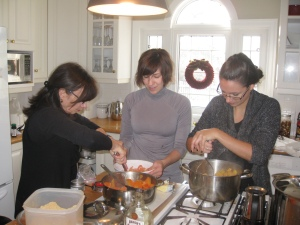 Sharing recipes and tips with my daughter and daughter-in-law
